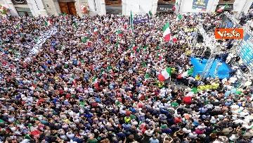 4 - La manifestazione in piazza Montecitorio contro il nuovo Governo