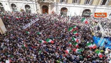 9 - La manifestazione in piazza Montecitorio contro il nuovo Governo