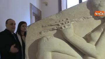 9 - Settimana dei musei, Bonisoli visita le meraviglie di Palazzo Altemps a Roma