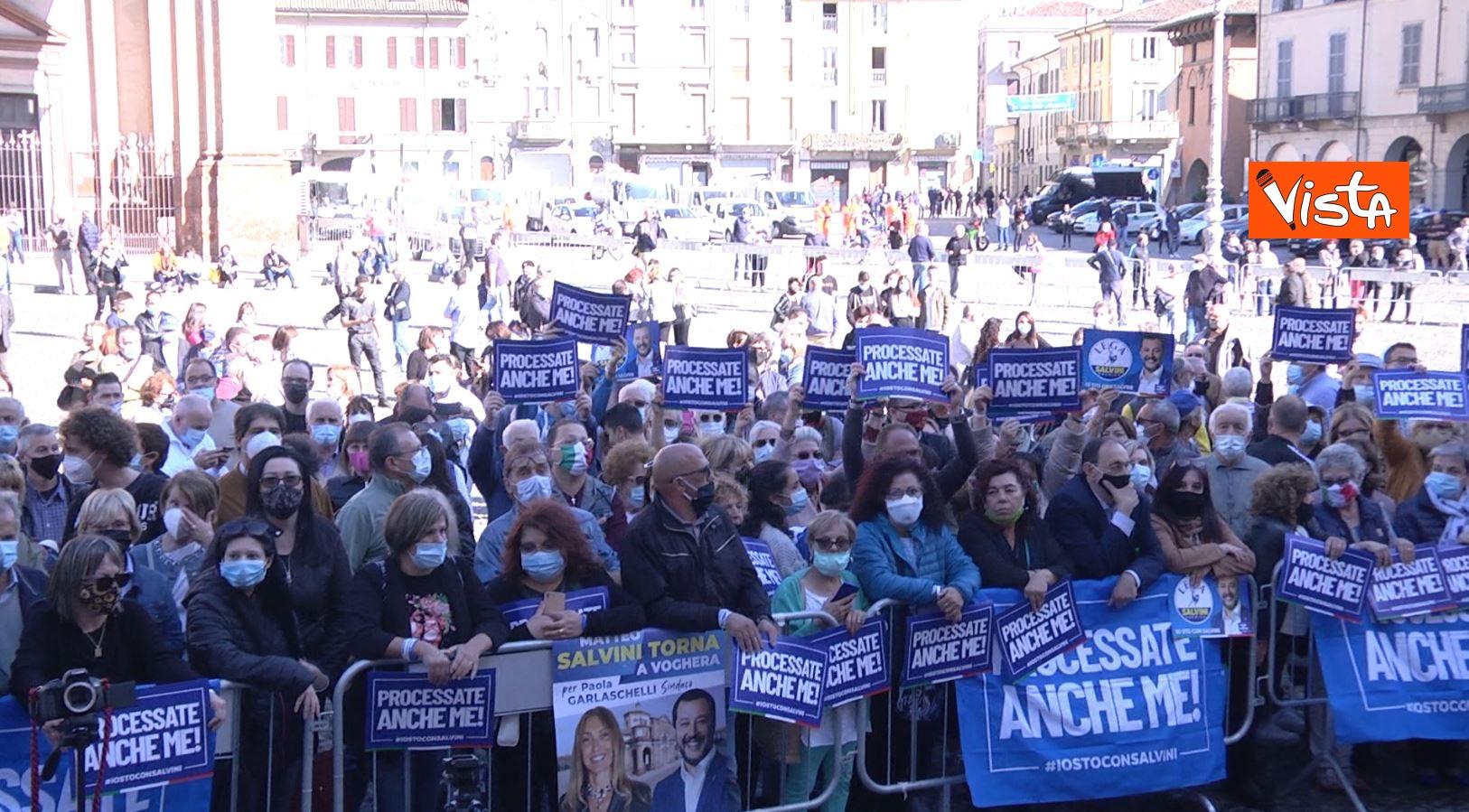 27_09_20 Salvini a Voghera Pavia per il comizio elettorale le immagini _03