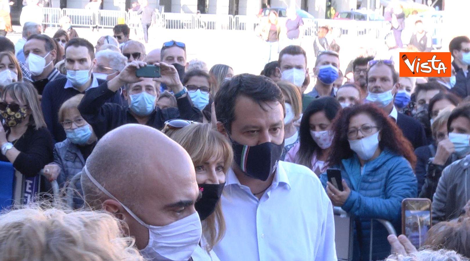 27_09_20 Salvini a Voghera Pavia per il comizio elettorale le immagini _06