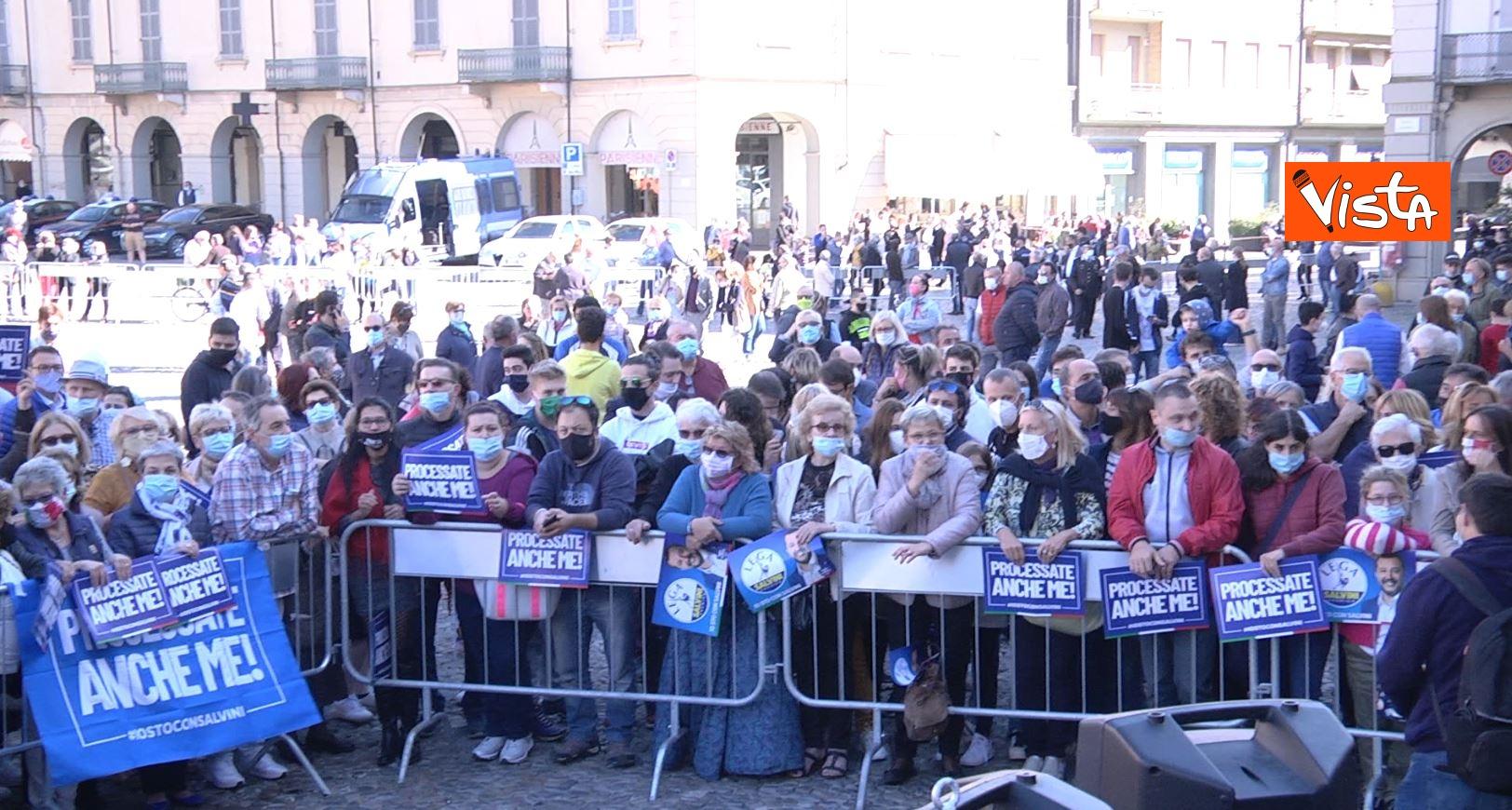 27_09_20 Salvini a Voghera Pavia per il comizio elettorale le immagini _02
