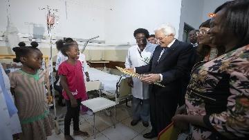6 - Mattarella in Angola visita l'Ospedale Divina Provvidenza