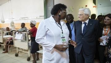 8 - Mattarella in Angola visita l'Ospedale Divina Provvidenza