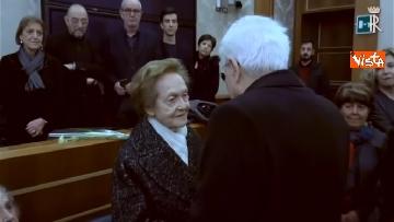 5 - Il presidente della Repubblica Mattarella omaggia la camera ardente dell'On Ossicini