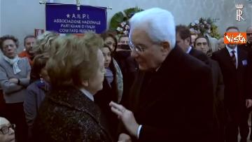 4 - Il presidente della Repubblica Mattarella omaggia la camera ardente dell'On Ossicini