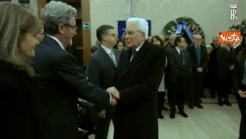 2 - Il presidente della Repubblica Mattarella omaggia la camera ardente dell'On Ossicini