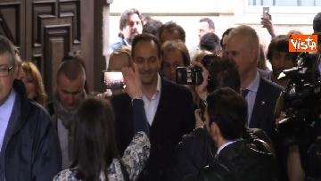 1 - L'arrivo al Palazzo della Regione di Alberto Cirio