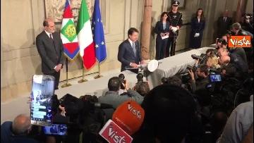1 - Conte è il premier incaricato, l'incontro con la stampa al Quirinale, le immagini