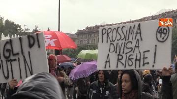8 - Il corteo antisovranista sfila a Milano contro il comizio di Salvini e Le Pen in Duomo