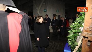 1 - Segre e Casellati visitano il Memoriale della Shoah di Milano, le immagini