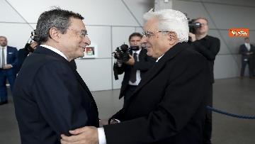 1 - Mattarella alla Bce con Merkel e Macron per l'addio di Draghi