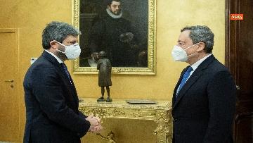 3 - Draghi e l'incontro con il presidente Fico a Montecitorio