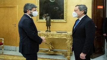 4 - Draghi e l'incontro con il presidente Fico a Montecitorio