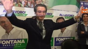 5 - Regionali Lombardia, Fontana il giorno dopo la vittoria