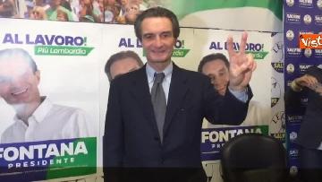 4 - Regionali Lombardia, Fontana il giorno dopo la vittoria