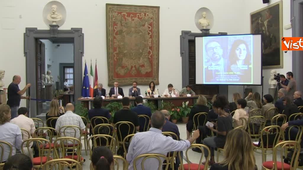 07-08-18 Bonafede e Raggi a presentazione progetto riabilitazione detenuti a Roma 5