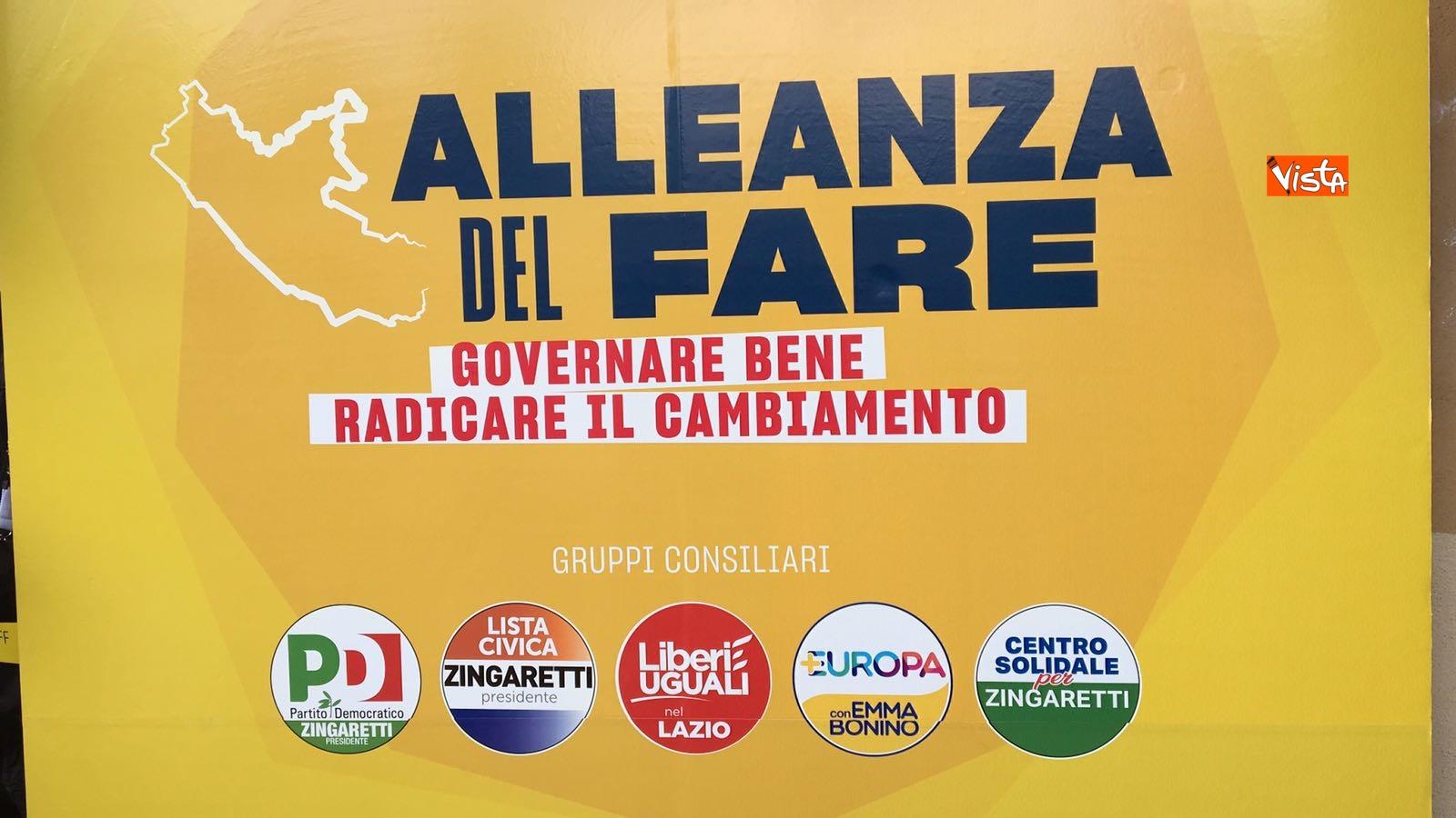 Zingaretti lancia l Alleanza del fare in vista delle amministrative del 10 giugno 2