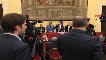 3 - Consultazioni, la delegazione del Pd incontra la stampa, le immagini