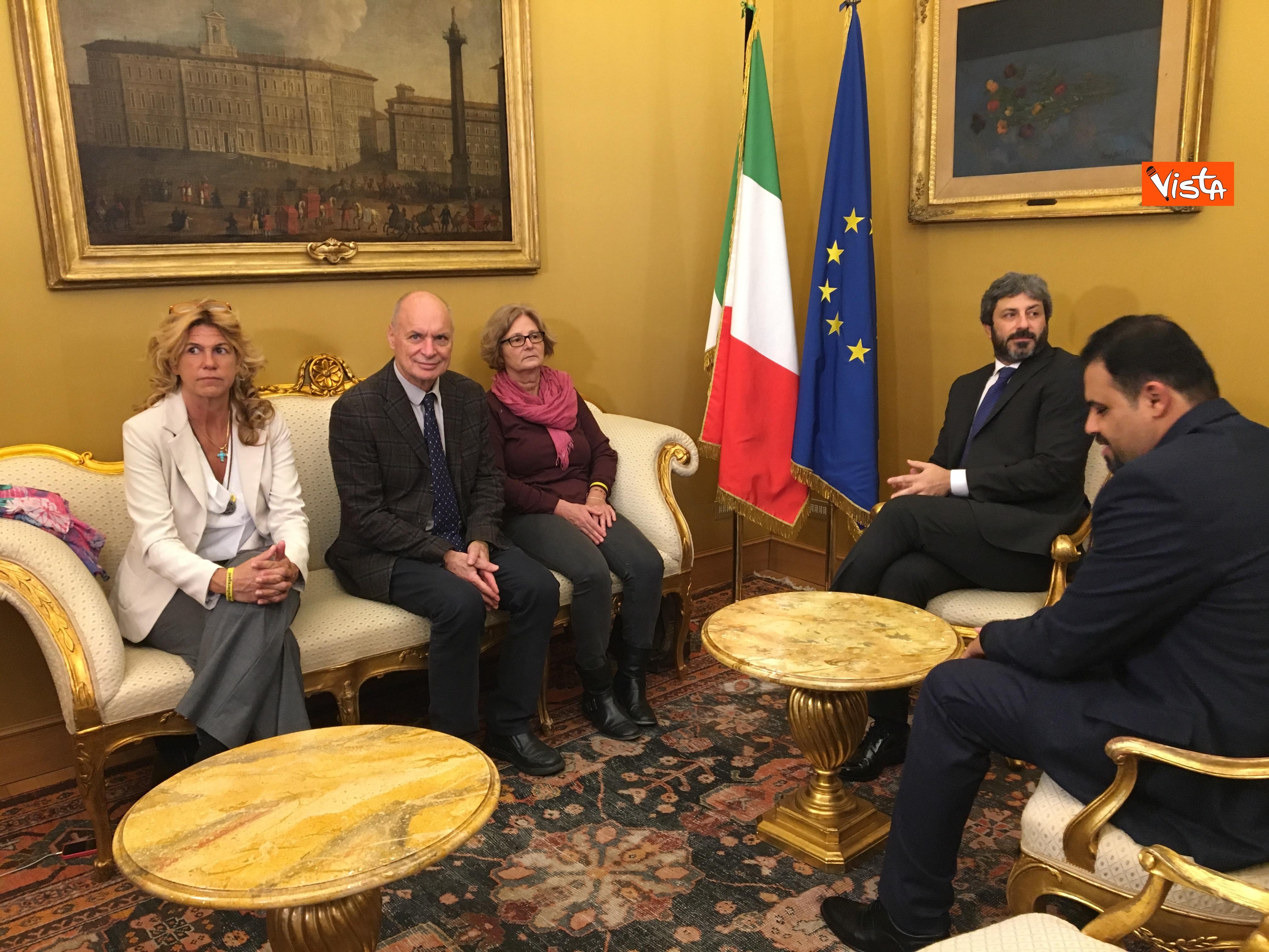 05-12-18 Regeni, Fico riceve i genitori di Giulio e i loro legali a Montecitorio_05