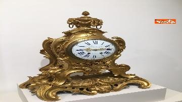 1 - I magnifici orologi della mostra inaugurata da Mattarella ''Segnare le ore. Gli orologi del Quirinale''