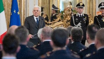 8 - Mattarella incontra rappresentanza Polizia di Stato al Quirinale