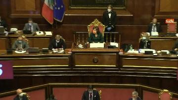 4 - Conte in Aula Senato riferisce su emergenza coronavirus, immagini