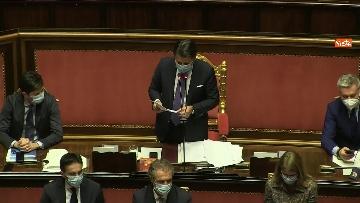 13 - Conte in Aula Senato riferisce su emergenza coronavirus, immagini