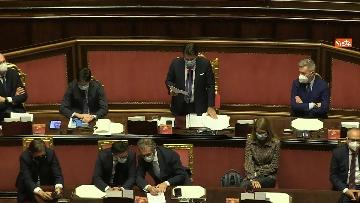 3 - Conte in Aula Senato riferisce su emergenza coronavirus, immagini