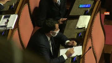 9 - Conte in Aula Senato riferisce su emergenza coronavirus, immagini