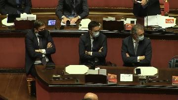 7 - Conte in Aula Senato riferisce su emergenza coronavirus, immagini