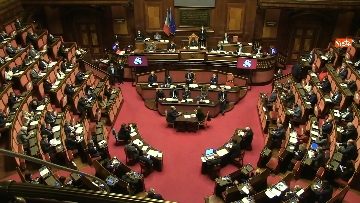 12 - Conte in Aula Senato riferisce su emergenza coronavirus, immagini