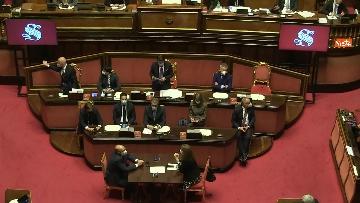 11 - Conte in Aula Senato riferisce su emergenza coronavirus, immagini