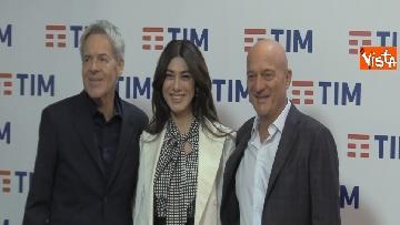 6 - La photocall con Bisio, V. Raffaele e Claudio Baglioni dopo la terza serata del Festival di Sanremo