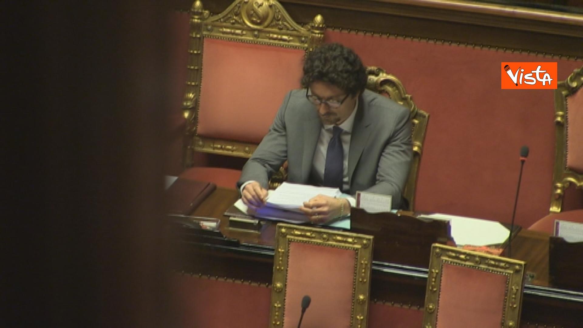 21-03-19 Mozione sfiducia per Toninelli al Senato le immagini dell Aula_il ministro in Aula 07