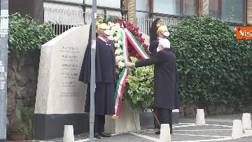 5 - Rapimento Moro, Mattarella rende omaggio alla lapide di Via Fani. Le immagini