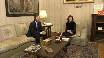 1 - Primo incontro ufficiale tra Fico e Casellati, i Presidenti al Senato