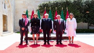7 - Il Presidente Mattarella al Palazzo Reale ricevuto da Sua Maestà, il Re Abdullah II