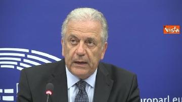 1 - Il Commissario Ue Avramopoulos al Parlamento di Strasburgo