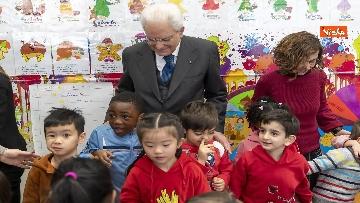 13 - Mattarella visita a sorpresa scuola D. Manin a Roma