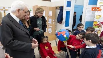 8 - Mattarella visita a sorpresa scuola D. Manin a Roma