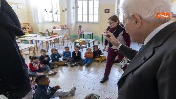 15 - Mattarella visita a sorpresa scuola D. Manin a Roma