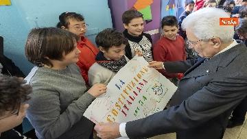 19 - Mattarella visita a sorpresa scuola D. Manin a Roma
