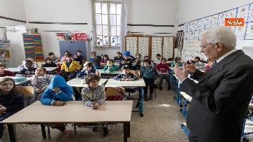 3 - Mattarella visita a sorpresa scuola D. Manin a Roma