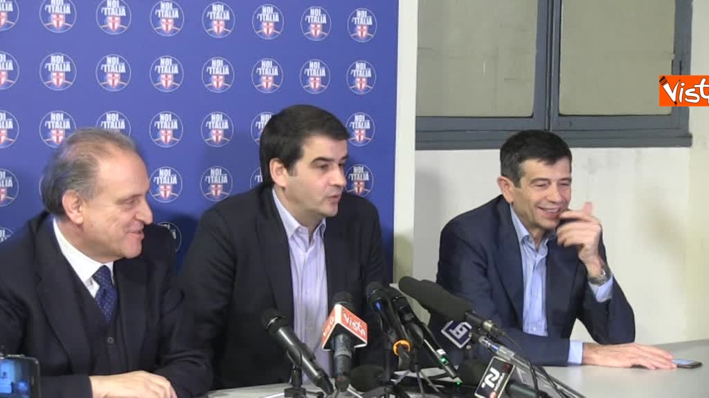 Noi con l'Italia, conferenza stampa dopo le elezioni 1