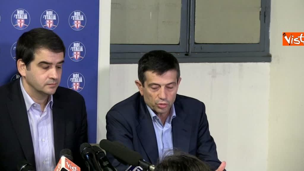 Noi con l'Italia, conferenza stampa dopo le elezioni 4