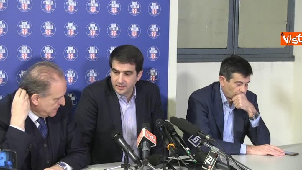 Noi con l'Italia, conferenza stampa dopo le elezioni 2
