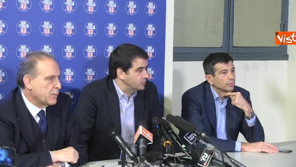 Noi con l'Italia, conferenza stampa dopo le elezioni 3
