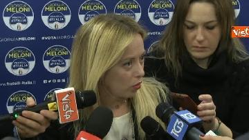 3 - La leader di FdI Giorgia Meloni io giorno dopo le elezioni
