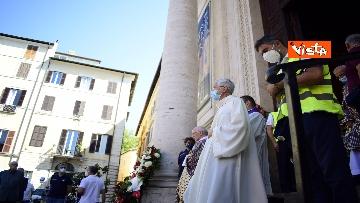 11 - Funerale Zavoli, le immagini del funerale nella chiesa di San Salvatore in Lauro a Roma